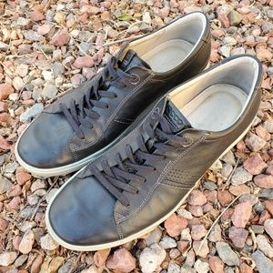 Ecco Black Smooth Leather Sneakers 13 EUR 47
